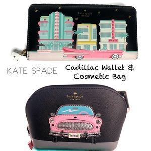 Kate Spade ♠️ Cadillac Car Wallet Cosmetic Bag NWT